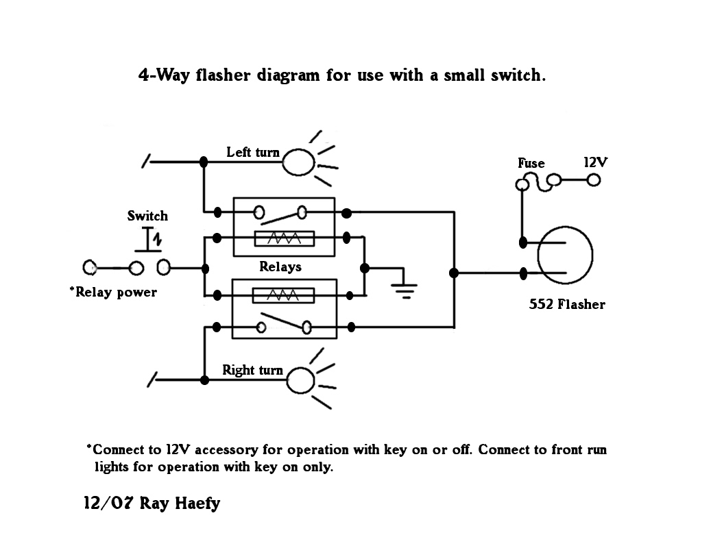 flasher wiring diagram 12v wiring diagrams and schematics ponent relay flasher circuit 6v electronic flasher circuit diagram